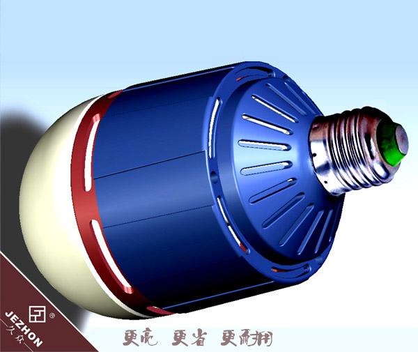 技术参数 品 牌:久众 品 名:大功率智能球泡灯 型 号:F630 功 率:30W 100W 输入电压:AC85V265V/50Hz 光 通 量:120Lm/W 显色指数:80 发光角度:120 色 温:正白6000K-6500K 暖 白:2700K-3500K 光 衰:1008h1% 工作温度:-40~60 散热方式:风冷 灯 头:E27 外壳材质:PBT/PC 防护等级:IP30 灯具尺寸:¢90*171mm 净 重 量: 0.